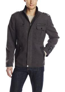 Stacy Adams Men's Big-Tall Tao Zippered Waist Length Top Coat   Regular