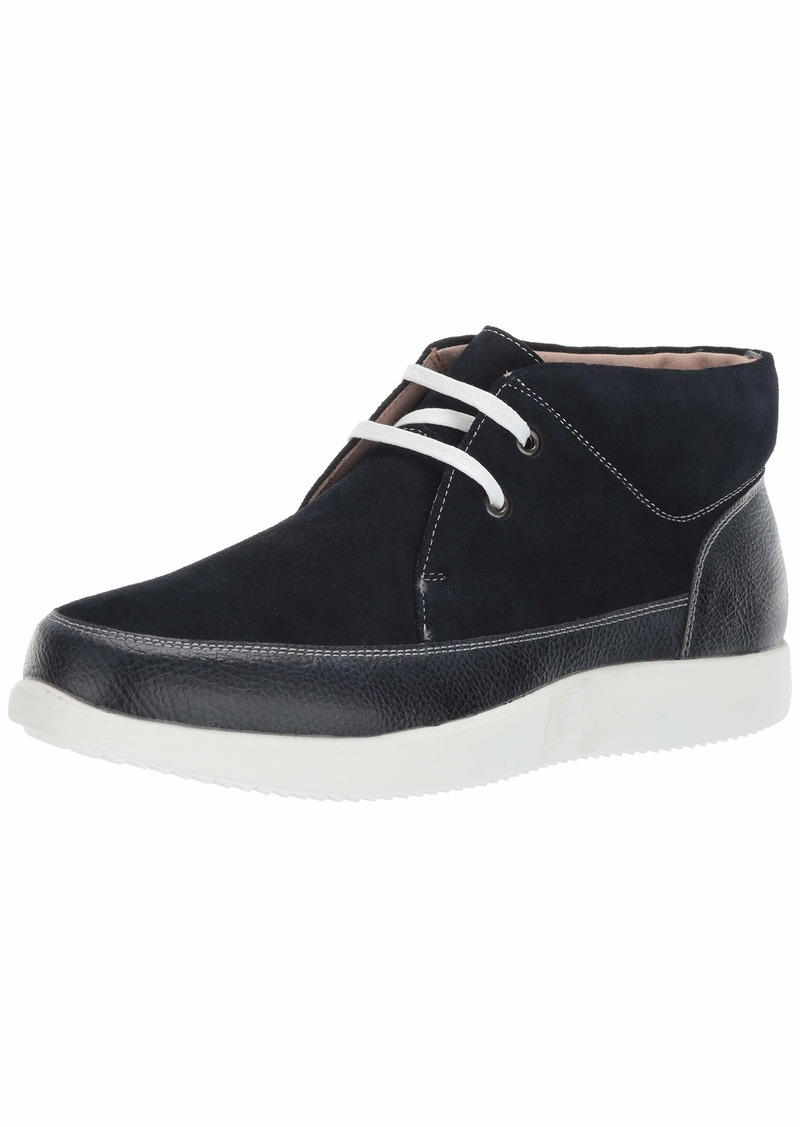 Stacy Adams Men's Buckley Moc Toe Lace-Up Chukka Boot navy  M US
