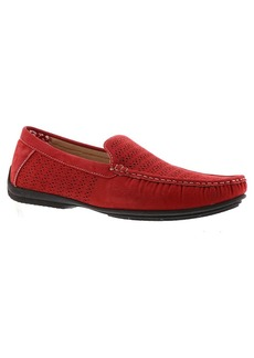 STACY ADAMS Men's Cicero Perfed Moc Toe Slip-on Driving Style Loafer red 10.5 W US