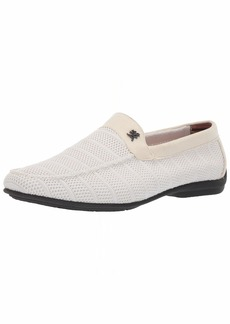 STACY ADAMS Men's Ciran Textile Casual Slip-On Driver Driving Style Loafer   M US