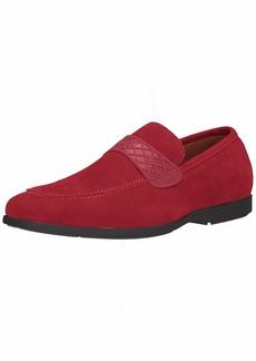 STACY ADAMS Men's Crispin Moc-Toe Slip-On Loafer red Suede  M US