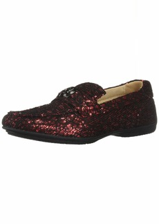 STACY ADAMS Men's Cyrano Moc-Toe Slip-on Driving-Style Loafer red  M US