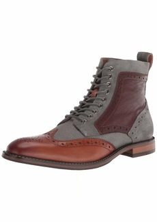 STACY ADAMS mens Finnegan Wingtip Lace-up Fashion Boot   US