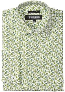 Stacy Adams Men's Floral Vines Classic Fit Dress Shirt