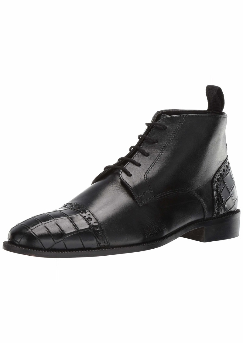 Stacy Adams Men's Franco Cap Toe Lace-Up Chukka Boot black  M US