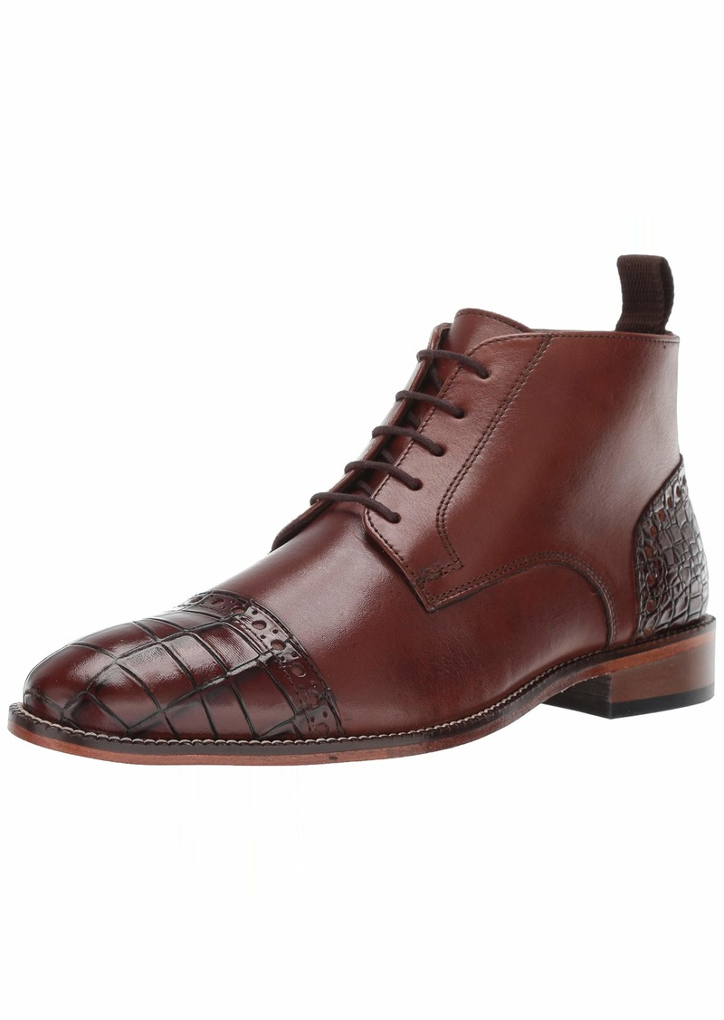 Stacy Adams Men's Franco Cap Toe Lace-Up Chukka Boot scotch  M US
