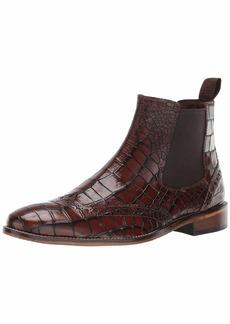 Stacy Adams Men's Frontera Croc Wingtip Chelsea Ankle Boot cognac  M US