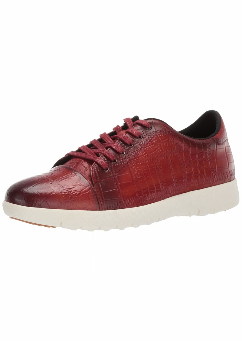 STACY ADAMS Men's Halcyon Exotic-Print Cap-Toe Lace-Up Sneaker   M US