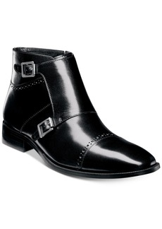 Stacy Adams Men's Kason Double-Monk Strap Cap-Toe Zip Boots Men's Shoes