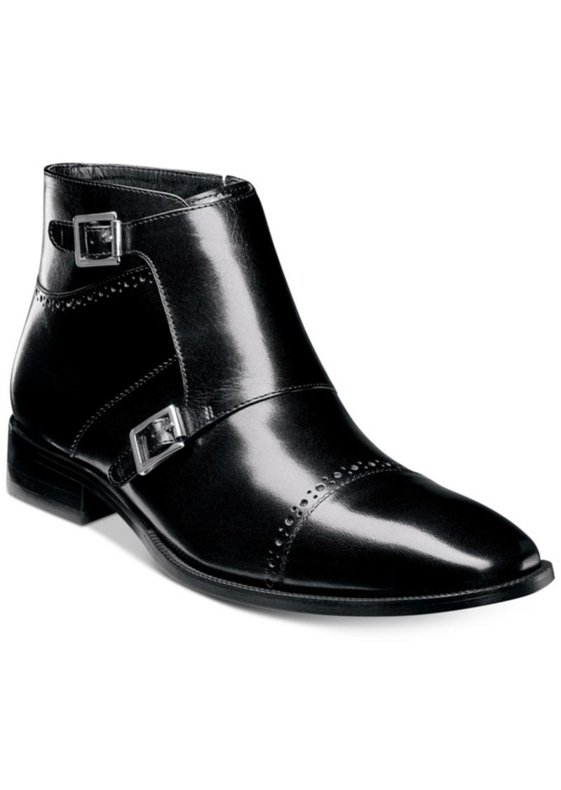 4f6852867480 Stacy Adams Men s Kason Double-Monk Strap Cap-Toe Zip Boots Men s Shoes