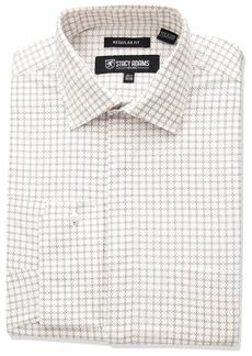 Stacy Adams Men's Linked Circles Classic Fit Dress Shirt