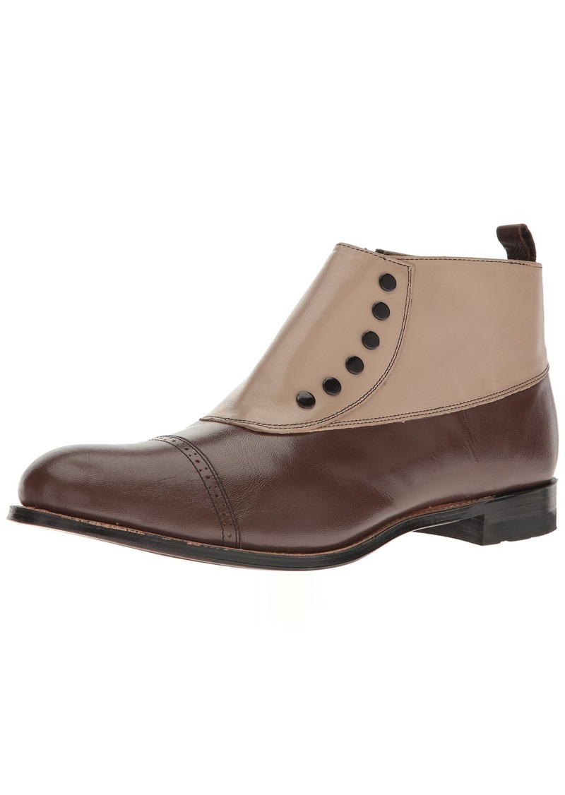 Stacy Adams Men's Madison Cap-Toe Spat BootBrown Multi