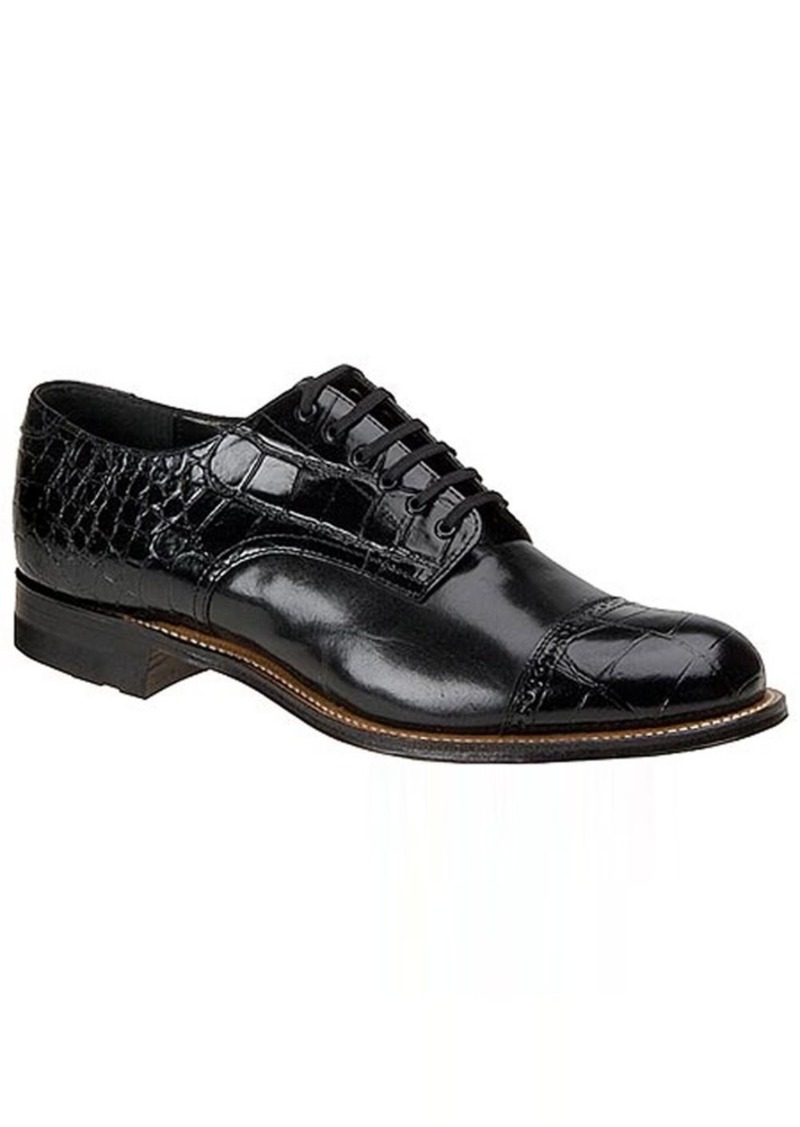 Stacy Adams Men's Madison Croco Cap-Toe OxfordBlack