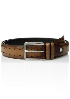 Stacy Adams Men's Metcalf Brogue Detailing Belt tan