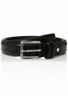 Stacy Adams Men's Metcalf 34 mm Leather Belt black