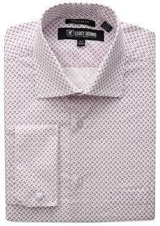 Stacy Adams Men's Mini Print Dress Shirt