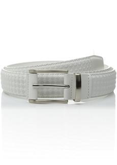 Stacy Adams Men's mm Diamond Embossed Leather Belt