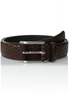 Stacy Adams Men's mm Full Grain Leather Top with Embossed Basket Weave Belt