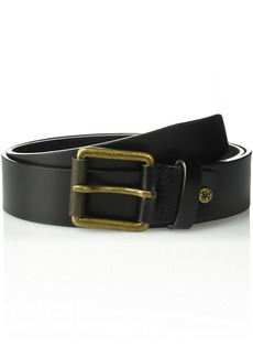 Stacy Adams Men's 38mm Genuine Leather Jean Belt with Brass Roller Buckle black