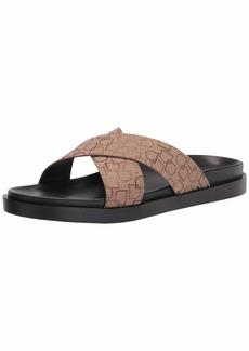 STACY ADAMS mens Montel Cross Strap Slide Sandal Loafer   US