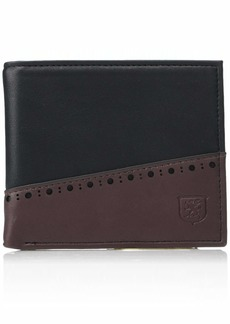 Stacy Adams Men's Nathan Bifold Wallet black And Burgundy