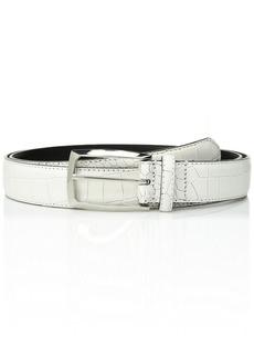 Stacy Adams Men's Ozzie 34 mm Leather Belt white
