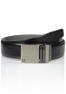 Stacy Adams Men's Plaque 35Mm Leather Belt