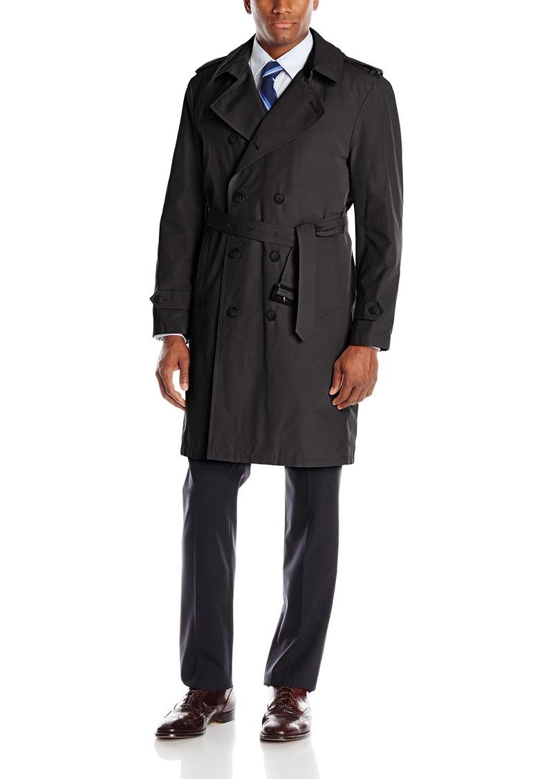 Black Regular Stacy Adams Mens Big-Tall Eros Hidden Front Full Length Top Coat