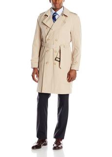 Stacy Adams Men's Rain Double Breasted Full Length Top Coat   Regular