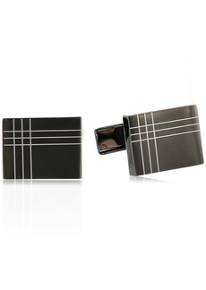 Stacy Adams Men's Rectangle Cuff Link with 3 Rhinestones