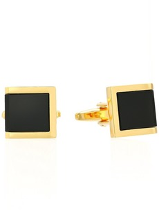 Stacy Adams Men's Rectangle with 3 Jet Acrylic Inlays Cuff Links