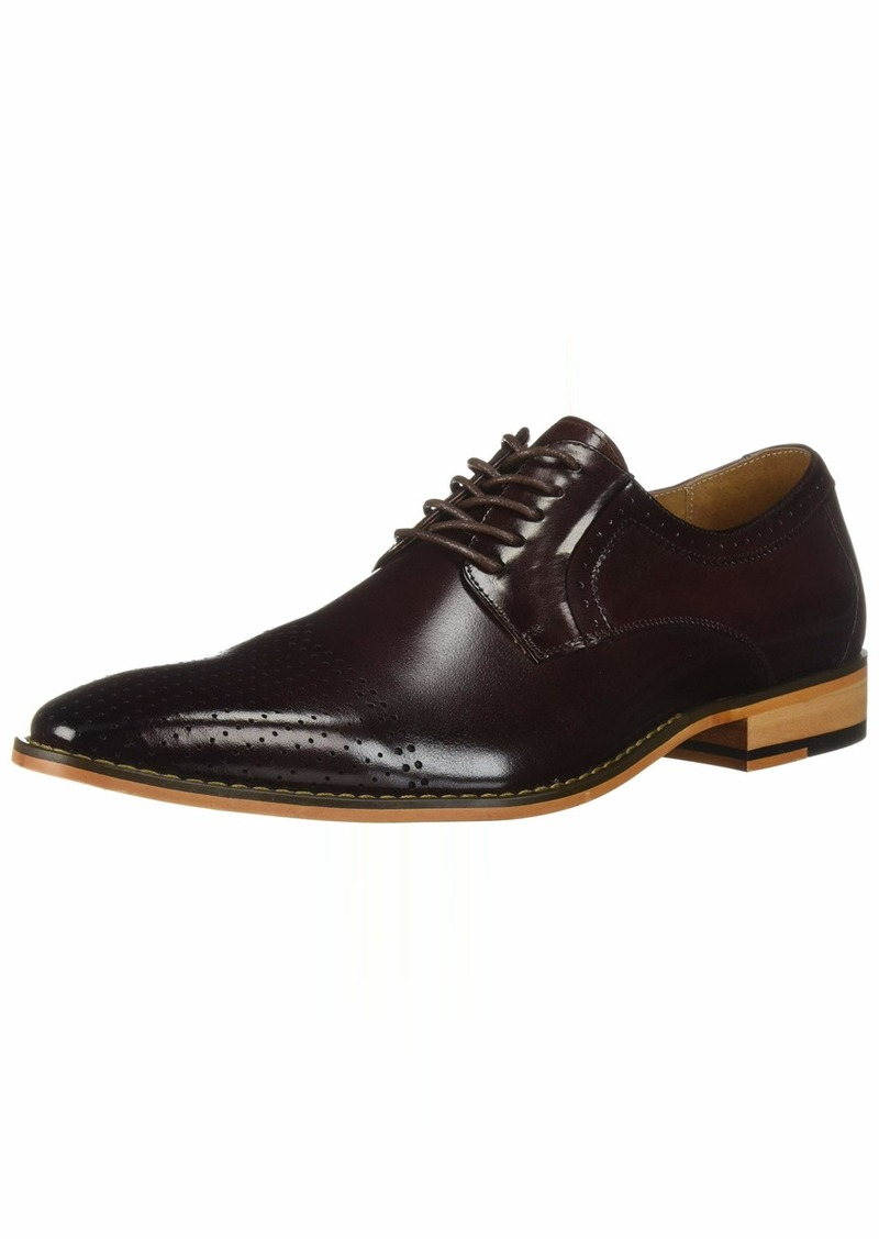STACY ADAMS Men's Sanborn Perf Cap-Toe Lace-Up Oxford   M US