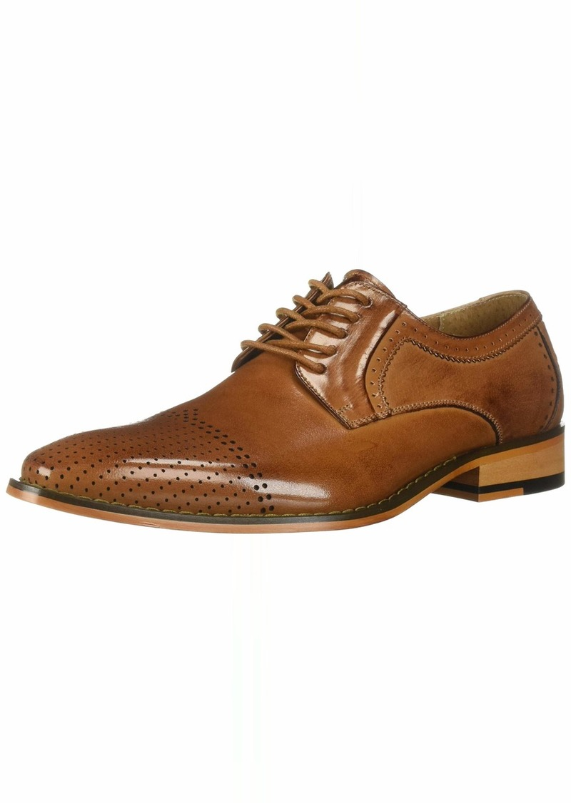 STACY ADAMS Men's Sanborn Perf Cap-Toe Lace-Up Oxford tan  M US
