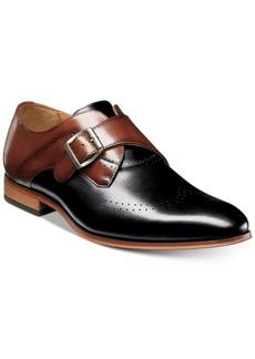 Stacy Adams Men's Saxton Monk Strap Wingtip Loafers Men's Shoes