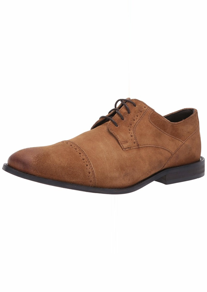 Stacy Adams Men's Shuler Cap Toe Lace-Up Oxford tan suede  M US