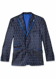 STACY ADAMS Men's Big and Tall Single Breasted Electric Static Sport Coat  3X Large