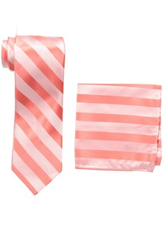 Stacy Adams Men's  solid Woven Formal Stripe Tie Set Extra Long