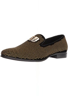 STACY ADAMS Men's Swagger Studded Ornament Slip-On Driving Style Loafer   M US