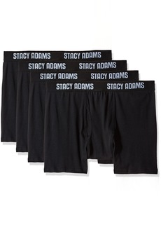 STACY ADAMS Men's Tall 4pack Cotton Boxer Brief Big Sizes
