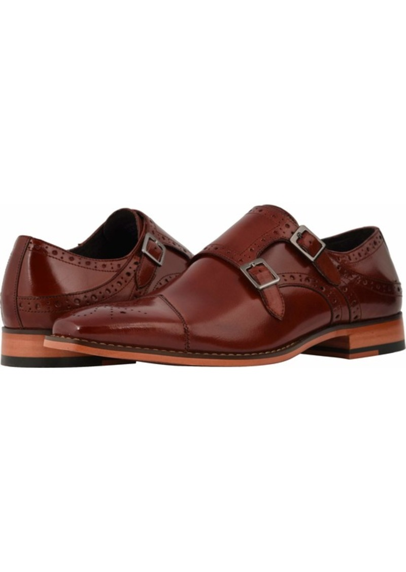 STACY ADAMS Men's Tayton Cap Toe Double Monk Strap Loafer   M US