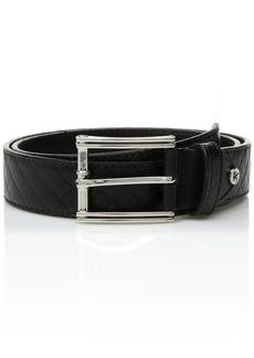 Stacy Adams Men's Webster Diamond Embossed Belt black