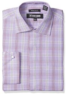 Stacy Adams Men's Window Pane Check Classic Fit Dress Shirt