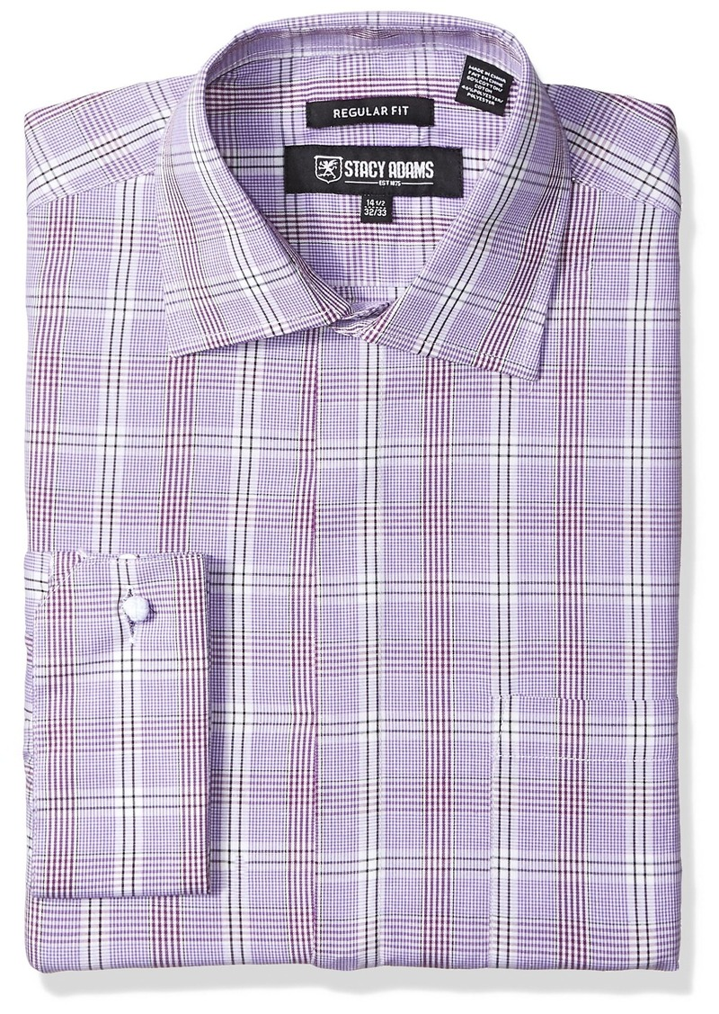 STACY ADAMS Mens Big-Tall Textured Solid Dress Shirt