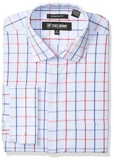 Stacy Adams Men's Windowpane Classic Fit Dress Shirt