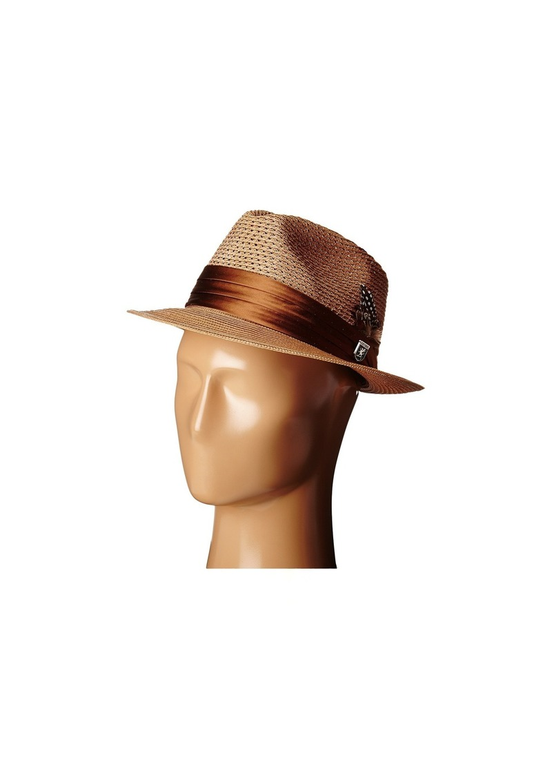 Stacy Adams Polybraid Pinch Front Fedora with Silk Band
