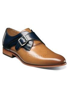 Stacy Adams Saxon Perforated Monk Shoe (Men)