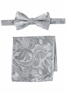STACY ADAMS mens Classic Pretied With Pocket Square Bow Tie   US