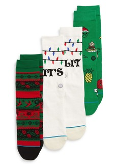 Stance 3-Pack Ornaments Crew Socks