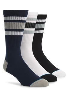 Stance Boyd 3-Pack Stripe Crew Socks