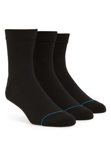 Stance Icon 3-Pack Quarter Socks